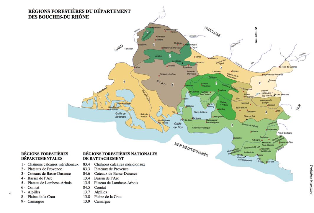 S13BE Régions forestières BdR